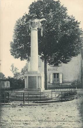 """CPA FRANCE 38 """" St André le Gaz, Le monument aux morts"""""""