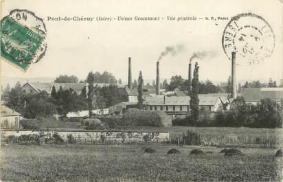 """CPA FRANCE 38 """" Pont de Chéruy, Usines Grammont"""""""