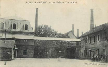"CPA FRANCE 38 "" Pont de Chéruy, Usines Grammont"""