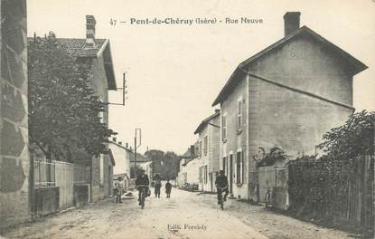 """CPA FRANCE 38 """" Pont de Chéruy, La Rue Neuve"""""""