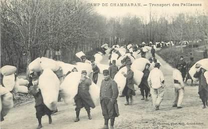 """CPA FRANCE 38 """" Le Camp de Chambaran, Le transport des Paillasses"""""""