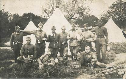 "CARTE PHOTO FRANCE 38 "" Le Camp de Chambaran"""