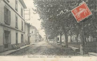"""CPA FRANCE 38 """" Marcilloles, Grande rue """""""
