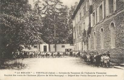 """CPA FRANCE 38 """" Viriville, Colonie de vacances de l'Industrie Viennoise Le Bocage"""""""