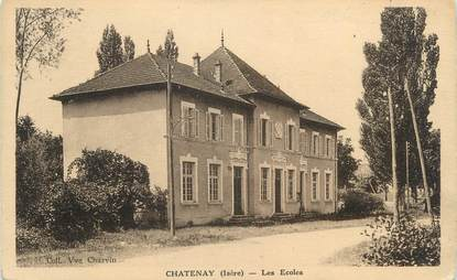 """CPA FRANCE 38 """" Chatenay, Les écoles"""""""
