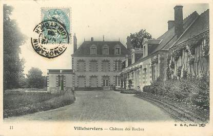 "/ CPA FRANCE 41 ""Villeherviers, château des Roches"""