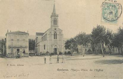 "CPA FRANCE 83 "" Gonfaron, Place de l'église"""