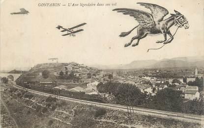 """CPA FRANCE 83 """" Gonfaron, L'Ane légendaire dans son vol"""""""