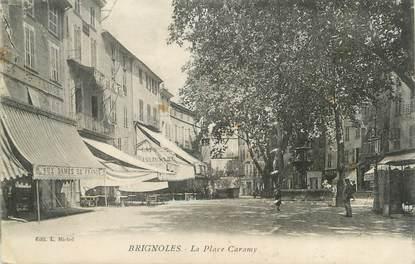 """CPA FRANCE 83 """" Brignoles, La Place Caramy"""""""