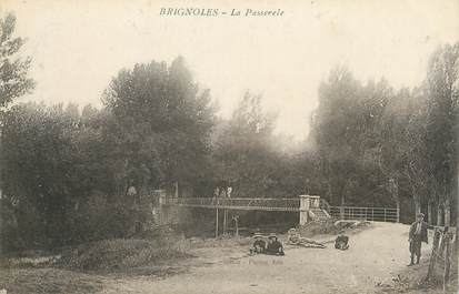 """CPA FRANCE 83 """" Brignoles, La passerelle"""""""