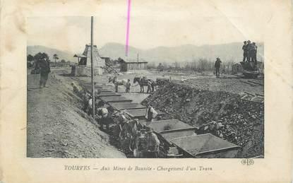 """CPA FRANCE 83 """"Tourves, Mines de bauxite, chargement d'un train"""" / MINES"""