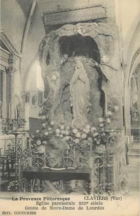 """CPA FRANCE 83 """"Claviers, Grotte de Notre Dame de Lourdes"""""""