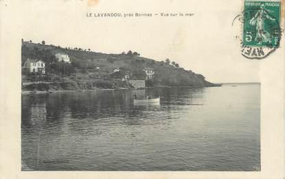 """CPA FRANCE 83 """" Le Lavandou, Vue sur la mer"""""""