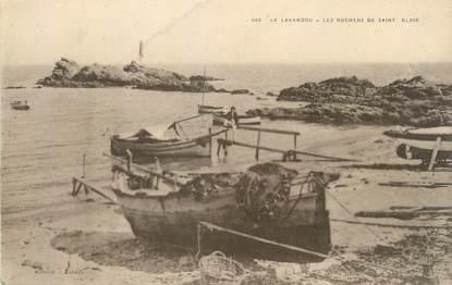 """CPA FRANCE 83 """" Le Lavandou, Les Rochers de St Clair"""""""