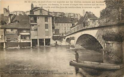 """CPA FRANCE 25 """"Ornans, pont sur la Loue"""""""