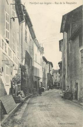 """CPA FRANCE 83 """" Montfort sur Argens, Rue de la Rougières"""""""