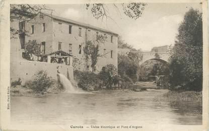 """CPA FRANCE 83 """" Carcès, Usine électrique et Pont d'Argens"""""""