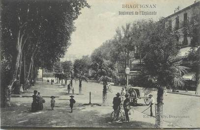 "CPA FRANCE 83 "" Draguignan, Le Boulevard de l'Esplanade"""