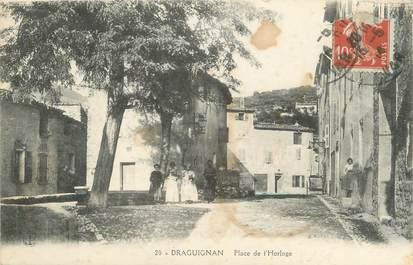 """CPA FRANCE 83 """" Draguignan, La Place de l'Horloge"""""""