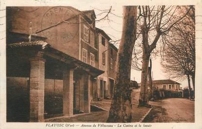 """CPA FRANCE 83 """" Flayosc, Avenue de Villeneuve, le casino et le lavoir"""""""