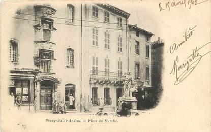 """CPA FRANCE 07 """"Bourg Saint Andéol, place du Marché"""""""