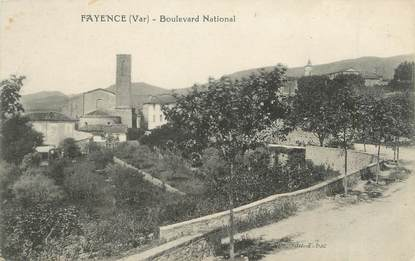 "CPA FRANCE 83 "" Fayence, Boulevard National"""