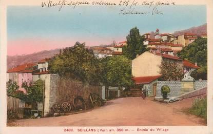 """CPA FRANCE 83 """"Seillans, Entrée du village"""""""