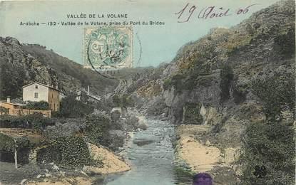 """CPA FRANCE 07 """"Vallée de la Volane prise du Pont du Bridou"""""""