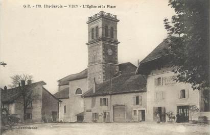 """CPA FRANCE 74"""" Viry , L'église et la place"""""""