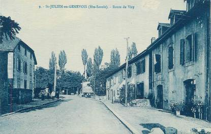 "CPA FRANCE 74 ""St Julien en Genevois, Route de Viry"""