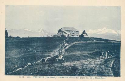 """CPA FRANCE 74 """" Praz de Lys, Hôtel et le Mont Blanc"""""""