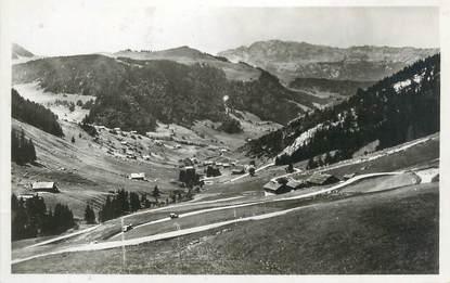 """CPSM FRANCE 74 """" Route du Col des Aravis, Les Grands Lacets et le Mont Lachat"""""""