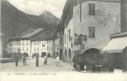"""CPA FRANCE 74 """" Thônes, La Place Centrale"""""""