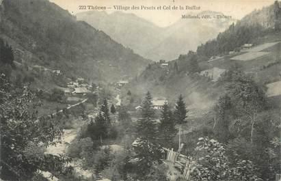 """CPA FRANCE 74 """" Thônes, Le Village de Pesets et le Col de la Buffaz"""""""