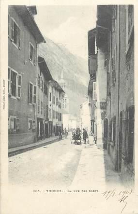 "CPA FRANCE 74 "" Thônes, La Rue des Clefs"""
