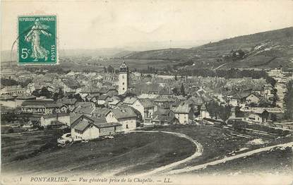 """CPA FRANCE 25 """"Pontarlier, vue générale prise de la chapelle"""""""