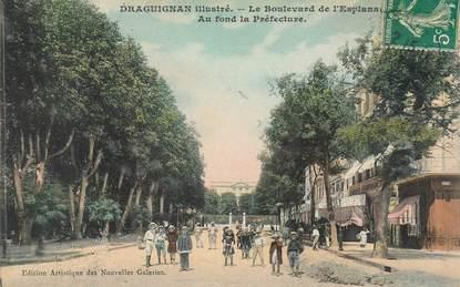 "CPA FRANCE 83 ""Draguignan, le boulevard de l'Esplanade"""