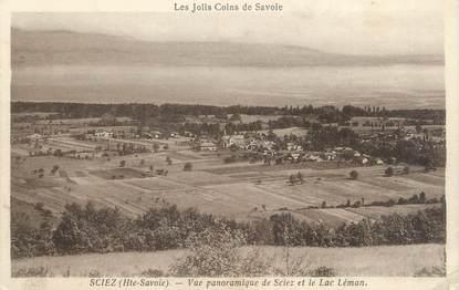 """CPA FRANCE 74 """" Sciez, Vue panoramique et le Lac Léman"""""""