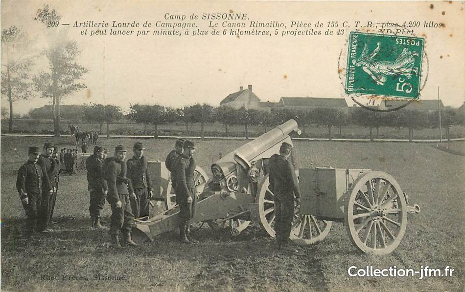 Cpa france 02 camp de sissonne artillerie lourde de for Sissonne 02