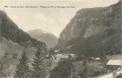 """CPA FRANCE 74 """" Le Fri, Le village, La Montagne des Gêts"""""""