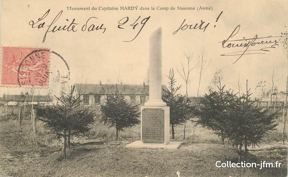 Cpa france 02 camp de sissonne monument du capitaine for Sissonne 02