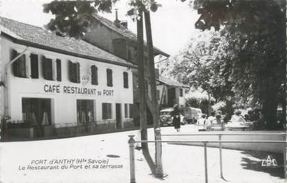 """CPSM FRANCE 74 """" Anthy, Café Restaurant du Port"""""""
