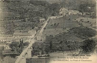 "CPA FRANCE 07 ""La Chasezac, le Pont et Chambonas"""