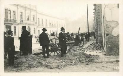 """CARTE PHOTO MEXIQUE / RÉVOLUTION MEXICAINE """"Mexico, 1913, artillerie devant le palais du gouvernement"""""""
