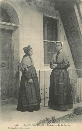 """CPA FRANCE 73 """" Beaufort sur Doron, Costumes de Savoie"""" / FOLKLORE"""
