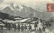 """73 Savoie CPA FRANCE 73 """" Environs de Ste Foy, Le Mont Pourri, vu du Lac du Retour"""" / CHASSEURS ALPINS"""