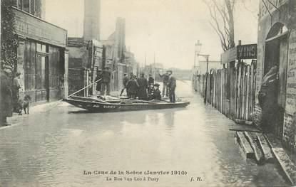 """CPA FRANCE 75016 """"Paris, les inondations de Paris, La Rue Van loo à Passy"""""""