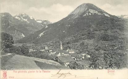 """CPA FRANCE 73 """"Bozel, Vue générale et Glacier de la Vanoise"""""""