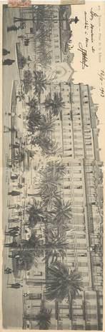 """CPA FRANCE 83 """" Toulon, Place de la Liberté """" / CARTE PANORAMIQUE"""