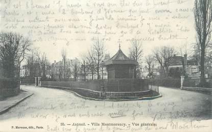 """CPA FRANCE 75 """" Paris 16ème, Auteuil, Villa Montmorency"""""""
